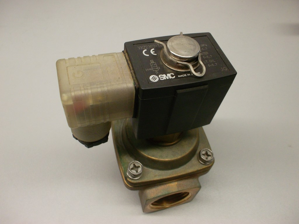The VXZ series is a 2 port, pilot operated solenoid valve capable of operating at higher differential pressures by maintaining a zero differential pressure on the seat. The molded coil offers low power consumption, long life and high reliability.